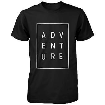 メンズ t シャツ トレンディなタイポグラフィ t シャツかわいい半袖シャツの冒険します。