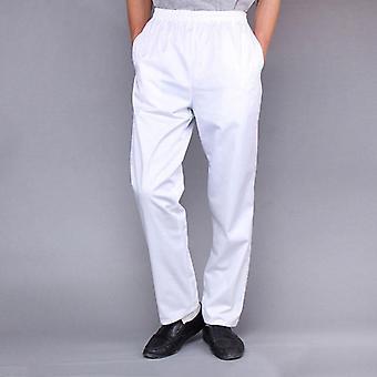 Chef Elastic Waist Trousers Catering Waiter Work Pants Restaurant