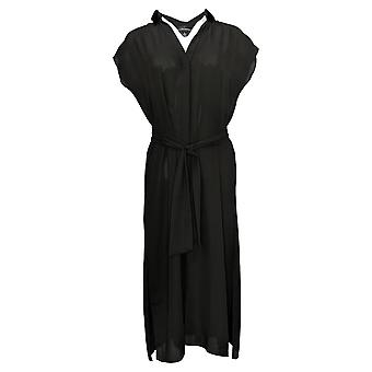 Colleen Lopez Dress Work And Play Button-Front Black 689082