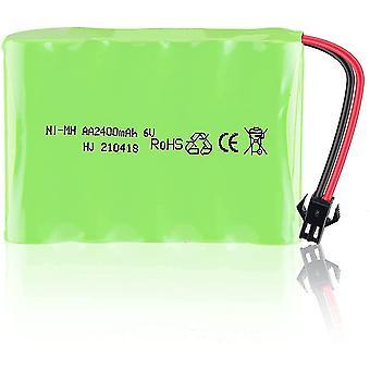 Batterie rechargeable 6v ni-mh 2400mah pour télécommande de voiture