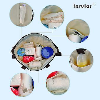 الجزرية 08770 الكورية للماء حقيبة المومياء السفر الطفل حفاضات حقيبة الحفاض