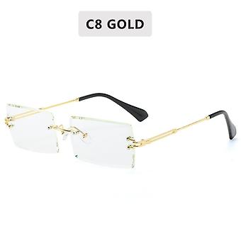 Retro Sunglasses Women Rimless Gradient Shades