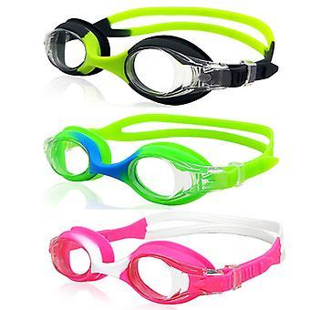 أطفال السباحة نظارات واقية 3 حزمة نظارات السباحة لا تسرب نظارات الأطفال المضادة للضباب