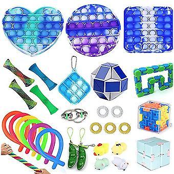 29pcs Anti Anxiety Push Pop Bubble Fidget Toy Stress Reliever Set
