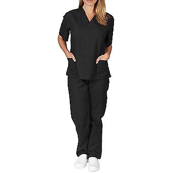 Damen Medizinische Peelings Doktor Uniform Jacke Hose Set Krankenschwester Zahnarzt Set