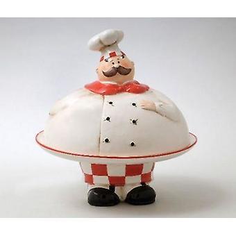 Chef Plate med lokk mat serverer presentasjon
