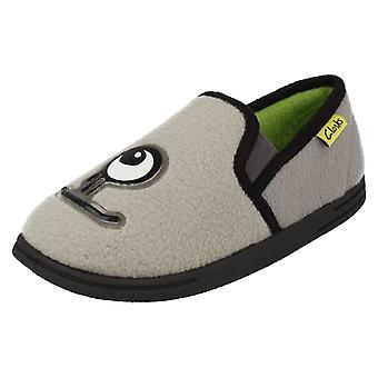 Infant/Junior Boys Clarks Monster Themed Slippers Movello Rise