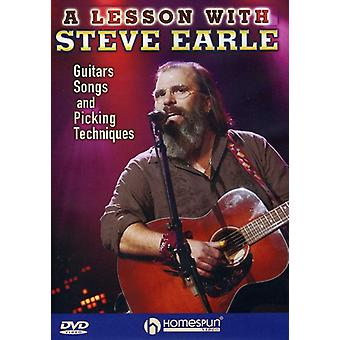 Steve Earle - A Lesson with Steve Earle: Guitars, Songs and Picking Techniques [DVD] USA import