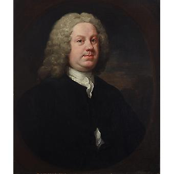William Hogarth - Dr Benjamin Hoadly MD Poster Print Giclee