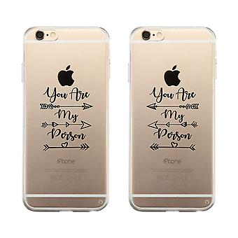 Apple iPhone 6 Plus Clear Cute Best Friend Matching Phone Cover
