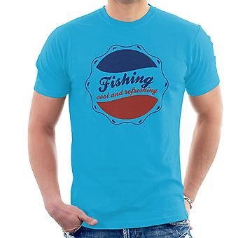 Pesca camiseta fresca y refrescante Pepsi Logo hombres
