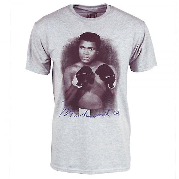 Muhammad Ali Mens Muhammad Ali Portrait T Shirt gris chiné