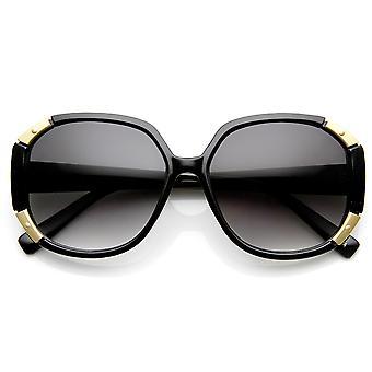 Metal moda damska akcentowane przewymiarowany okulary