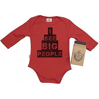 Spoilt Rotten See Big People Baby Grow 100% Organic In Milk Carton
