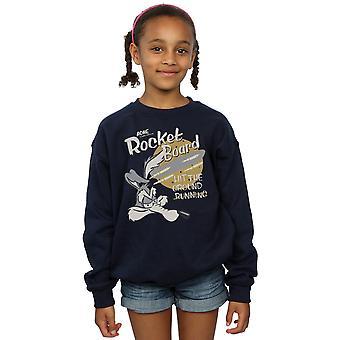 Looney Tunes ragazze Wile E Coyote Rocket Board Sweatshirt