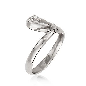14k White Gold Cubic Zirconia Top Adjustable Snake Shape Body Jewelry Toe Ring Jewelry Gifts for Women