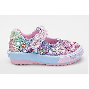 Lelli Kelly Tillie Baby LK5018 Rainbow Glitter Shoes