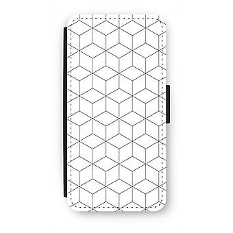 Samsung Galaxy S7 Edge Flip Case - Cubes black and white