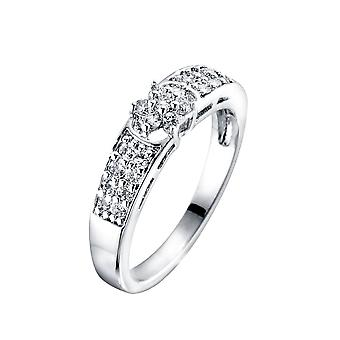 Crystal Ring van wit Swarovski en Rhodium-T54 3256