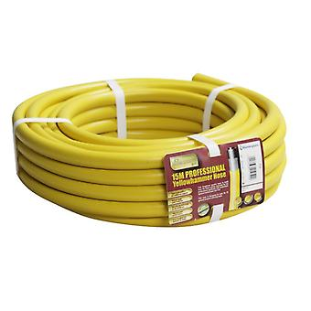Kingfisher 15m Pro Gold Yellow Hammer Professional Garden Hose Pipe