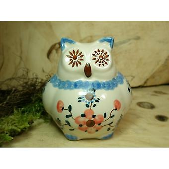 OWL, 2nd choice, 10.5 cm high, 53 - traditional polish pottery - BSN 22508