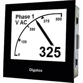 TDE Instruments Digalox DPM72-AVP Digital rack-mount meter Graphical DIN-panelmeter for Voltage and Ampere with USB interface TDE Instruments Digalox DPM72-AVP