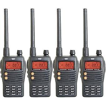 Team elektronische TeCom-X5 PR8582 PMR handheld transceiver 4-delige set