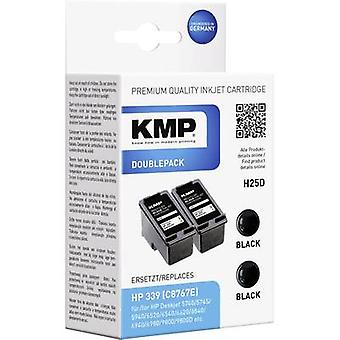 KMP Ink replaced HP 339 Compatible Pack of 2 Black H25D 1023,4021