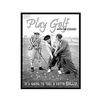 Stooges - Play Golf met... Metal Sign