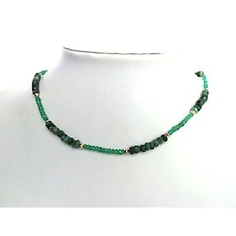 Emerald emeralds Emerald gemstone necklace gold plated clasp