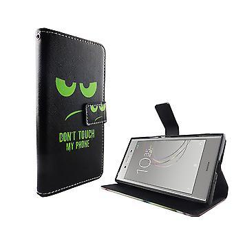 Saco caso móvel para telefone celular Sony Xperia XZ1 não toque meu telefone verde