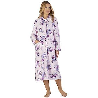 Slenderella HC2311 vrouwen Coral Fleece Floral Robe Lounge Bath badjas