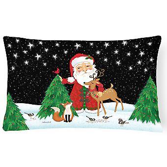 Santa Claus Christmas Canvas Fabric Decorative Pillow
