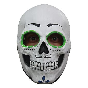 Catrin Skull Day Of The Dead Skeleton Horror Mens Costume Overhead Latex Mask