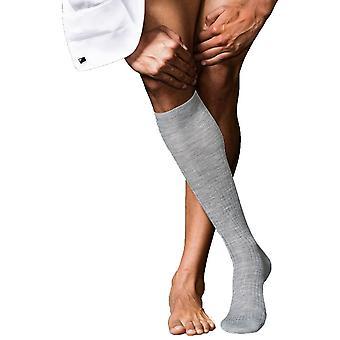Falke No7 Finest Merino Knee High Socks - Light Grey Melange