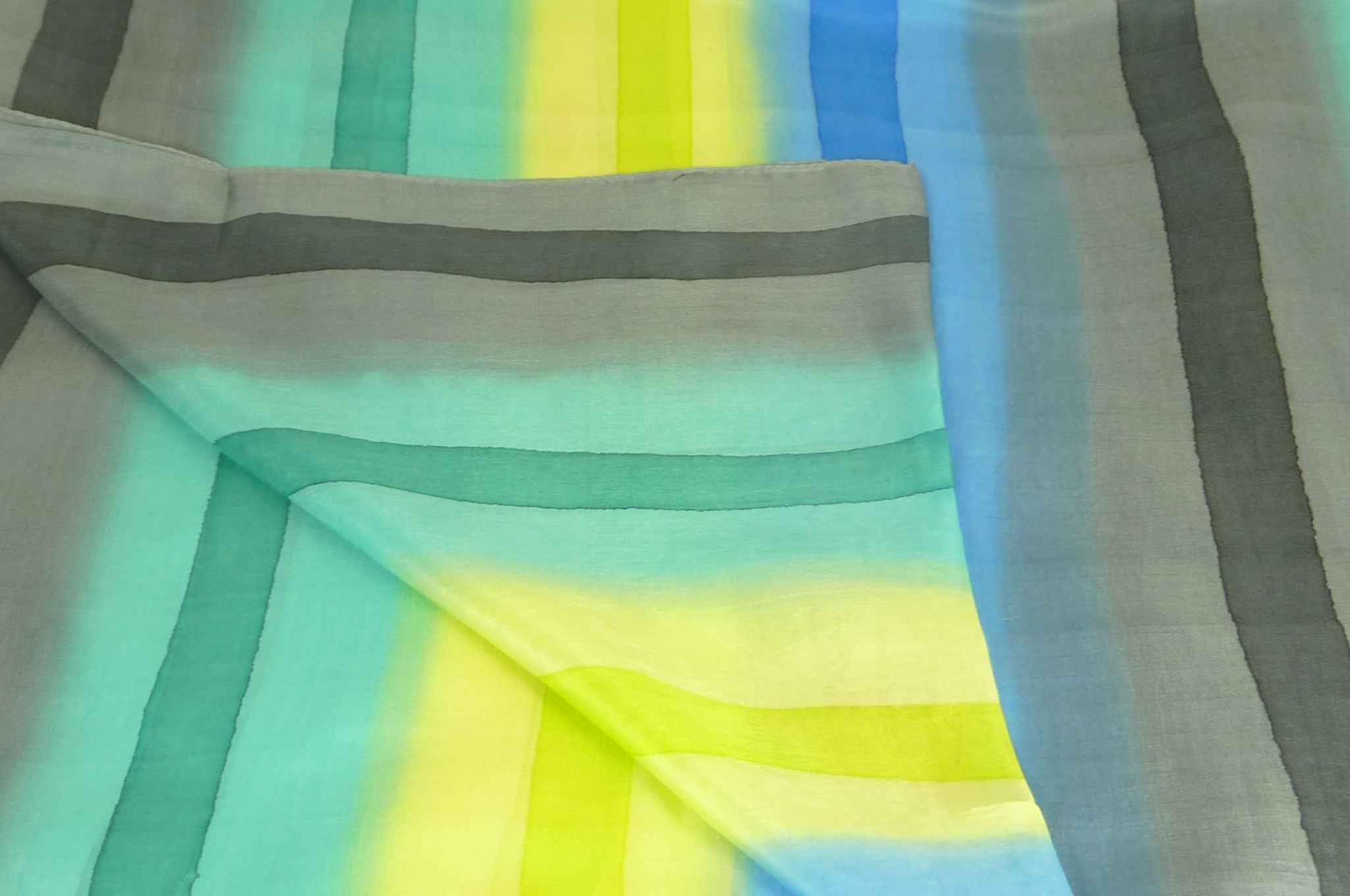 Mulberry Silk Classic Long Scarf Manju Rainbow Palette by Pashmina & Silk