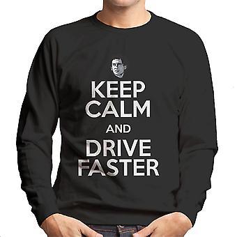 Mantenere la calma e guidare più veloce felpa Ayrton Senna
