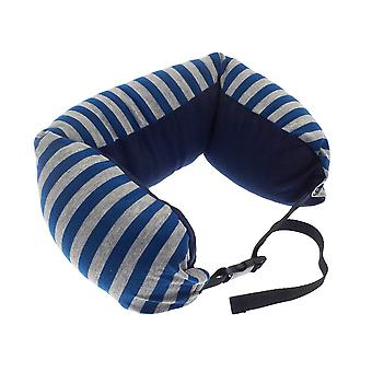 Globetrek International Stripe Neck Pillow, Blue