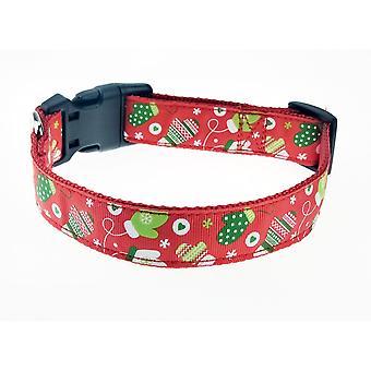Hund Koppel med Jul Tema - Handskar - Small