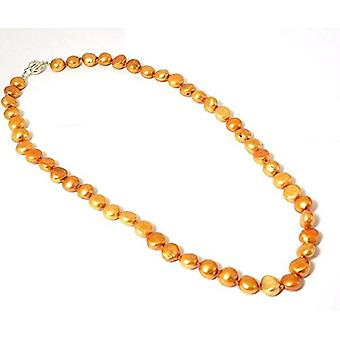 TOC Baroque Dyed Bright Gold Freshwater Cultured Pearl Necklace 18 Inch
