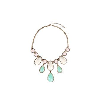 Lovemystyle Oversized Necklace With Pastel Stones