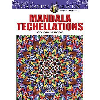 Rifugio creativo Techellations di Mandala Coloring Book (libri da colorare creativo Haven)
