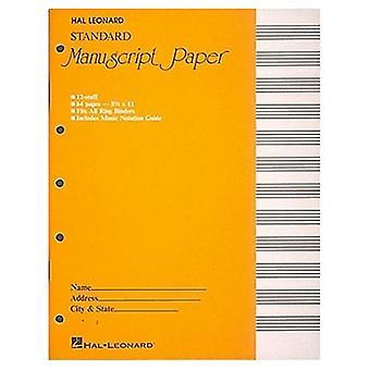 Foglio manoscritto standard (copertina gialla)