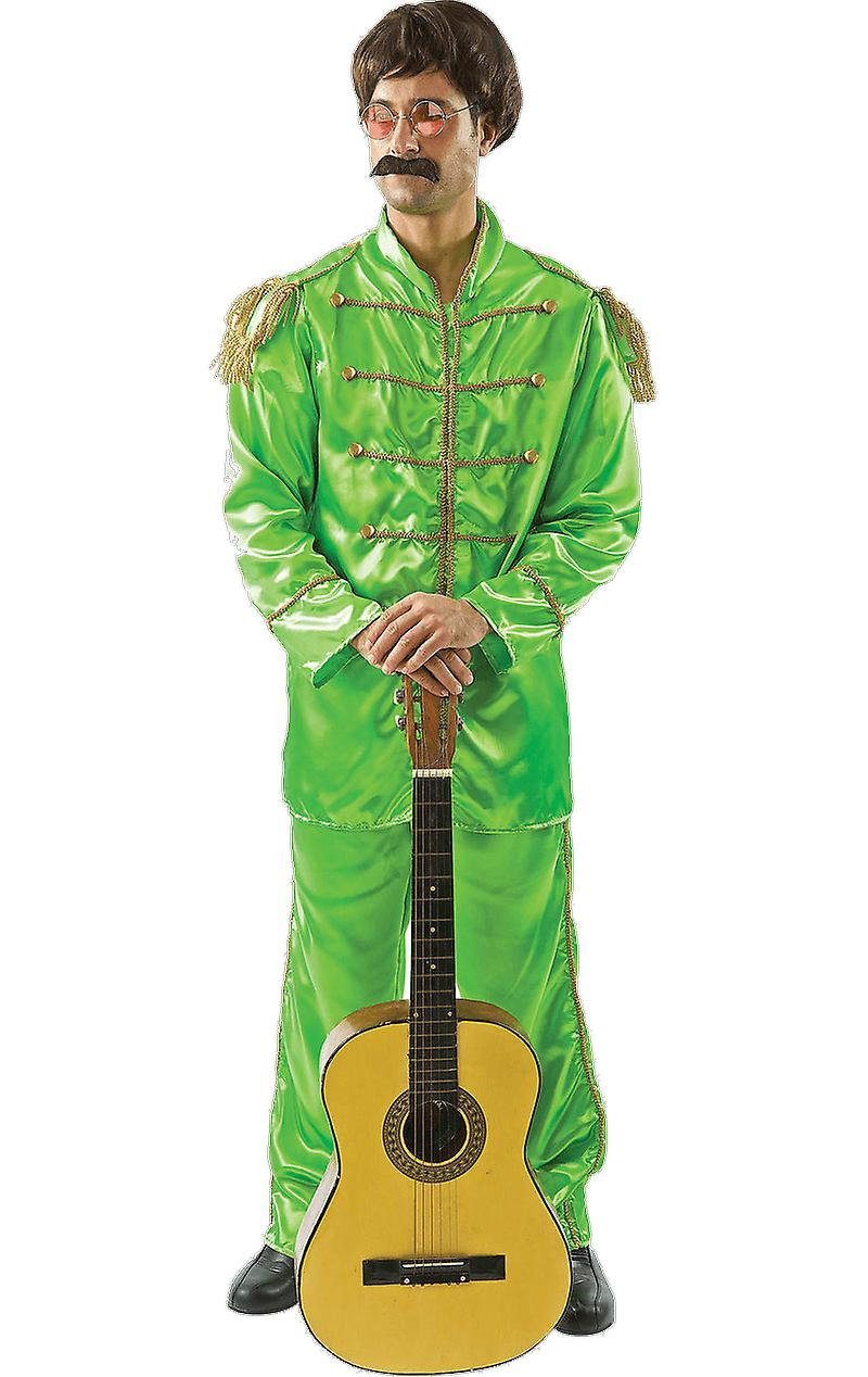 Orion Costumes Mens The Beatles Rock 60s Band Fancy Dress Costume Green