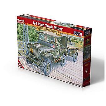 MisterCraft MCD299 1: 72 Jeep Willys & amp Trailer