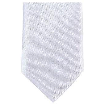 Knightsbridge Neckwear Skinny Tie Polyester - blanc