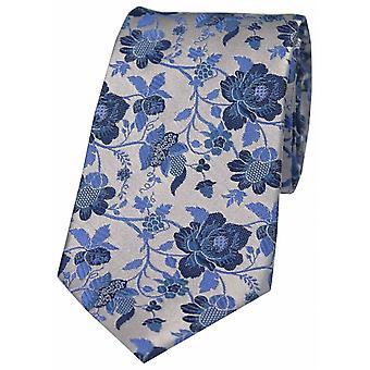 Дэвид ван Хаген цветочные узорной шелковый галстук - красный/синий