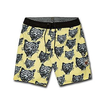 Volcom Ozzie Stoney 19 Mid Length Boardshorts in Lime