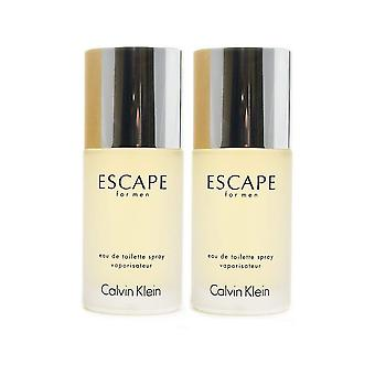 Calvin Klein Escape pre mužov Eau de Toilette Spray 50ml Duo Pack
