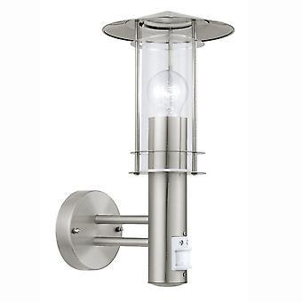 Eglo Lisio PIR Outdoor IP44 Stainless Steel Wall Light